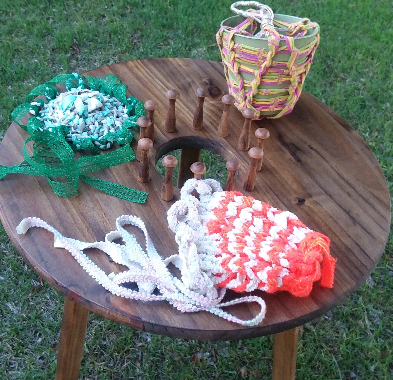 small Loom hats n planter